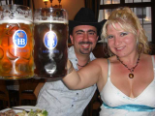 Celebrating at the Hofbrauhaus in Munich, Germany
